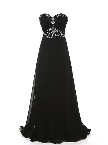 Grace Lee Womens Crtstal Chiffon Long Prom Dresses