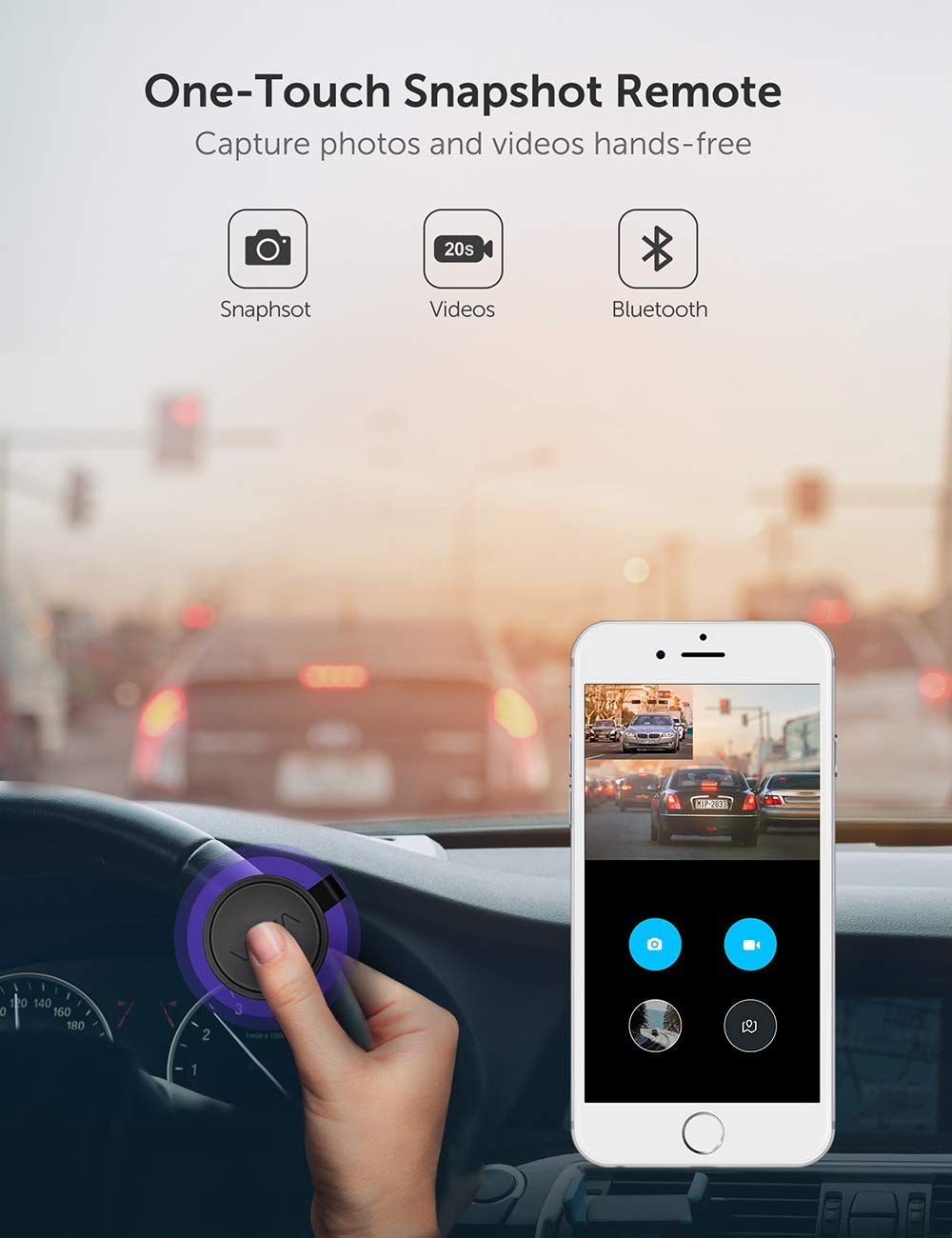 Dual Dash cam  VAVA Dual 1920x1080P FHD  Front and Rear dash camera  2560x1440P Single Front for