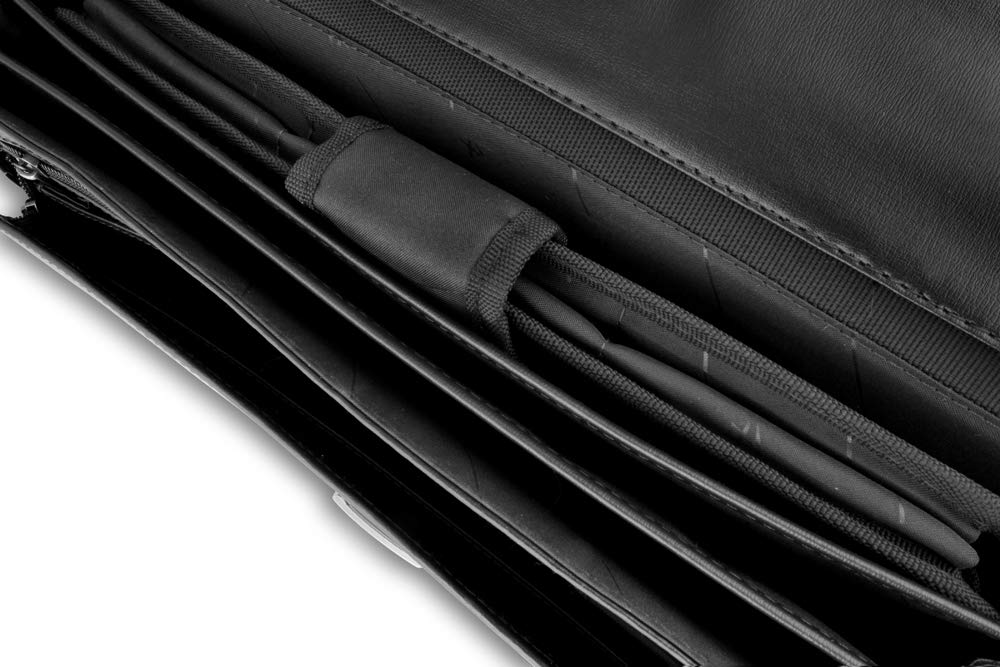 Lombard Burgundy Satchel Briefcase Landscape Flap Over 15.0 With Central Zip Adjustable Shoulder Strap