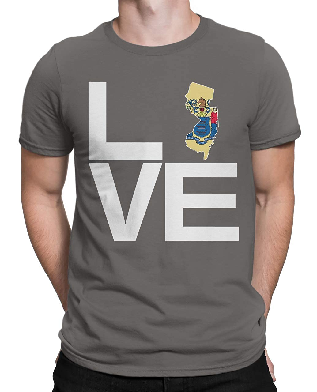 Tenacitee Mens Love Jersey T-Shirt