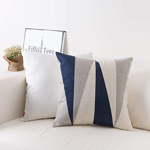 """2 Pack 18/"""" Throw Pillows Home Decor Cotton Embroidery Pillow Case Cushion Cover"""