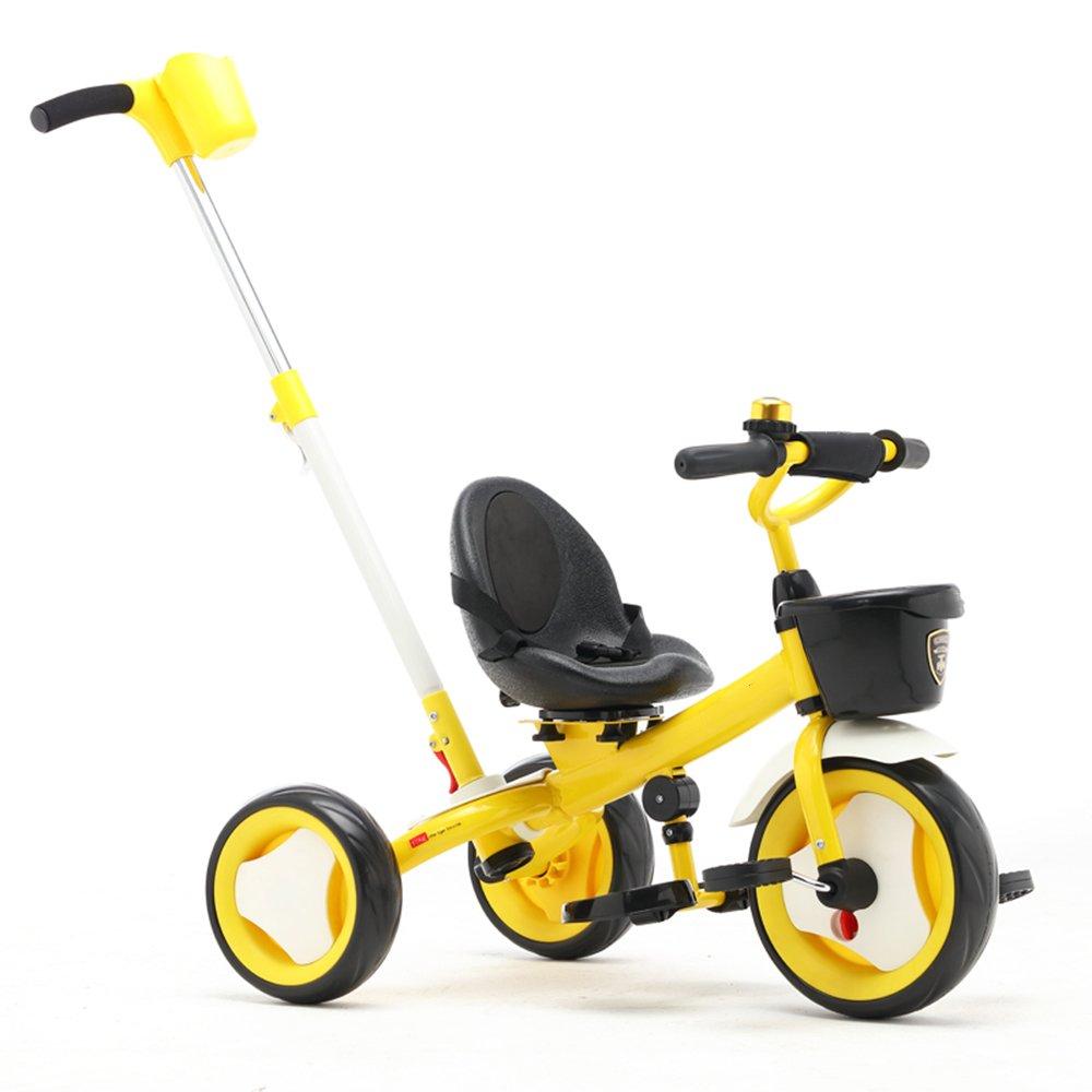 HAIZHEN マウンテンバイク Trike子供3輪キッズ三輪車ボーイズとガールズ3ウィーラー 新生児 B07C6V5L8J イエロー いえろ゜ イエロー いえろ゜