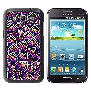 Paccase / SLIM PC / Aliminium Casa Carcasa Funda Case Cover para - Rainbow Floral Colors Purple Pattern - Samsung Galaxy Win I8550 I8552 Grand Quattro