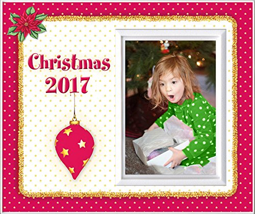 Christmas 2017 Red - Picture Frame Gift by Expressly Yours! Photo Expressions