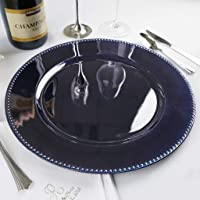 """Efavormart 24 pcs 13"""" Beaded Round Charger Plates Dinner Chargers For Tabletop Decoration"""