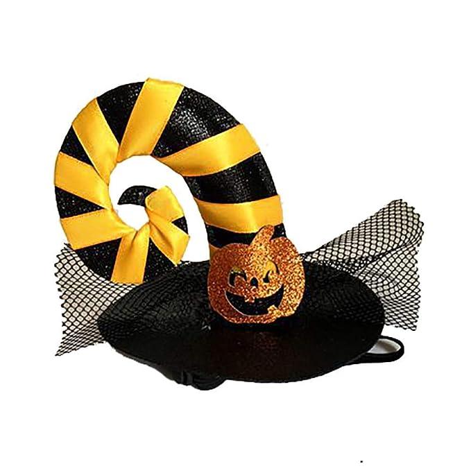 GZQ Gorro para Gato, Disfraz de Halloween para Mascotas, Sombrero del Perro para Cosplay, Ropa para Mascotas (Cinta Amarilla): Amazon.es: Productos para ...