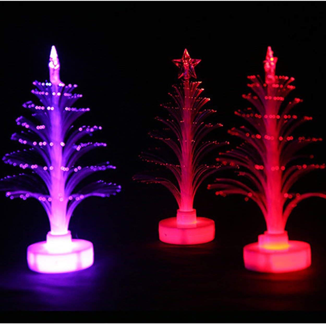 Lodenlli Romantic Gift Colorful Fiber Optic Christmas Creative Colorful Flash Christmas Tree Night Light