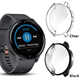 2 Pack Haojavo Compatible with Garmin Vivoactive 3 Music Screen Protector Case, Soft Plated TPU Scratch-Proof Full Protective Protector Case Cover for Garmin Vivoactive 3 Music Smartwatch Accessories