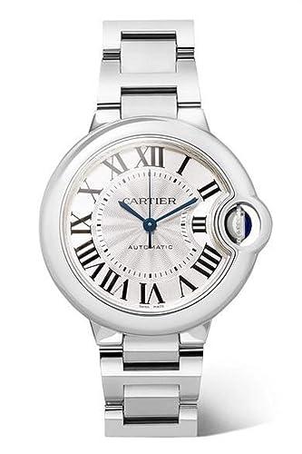 Cartier Ballon Bleu W6920071 - Reloj automático para Mujer, Esfera Plateada: Amazon.es: Relojes