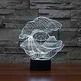 ZY&ZQ Night Light/ 3D Illusion lamp Creative Diamond Shell LED Stereo lamp Small
