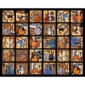 Springbok Puzzles - Six String Symphony - 2000 Piece Jigsaw Puzzle - Large 42.5 Inches by 34 Inches Puzzle - Made in USA - Unique Cut Interlocking Pieces