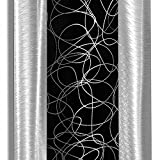 Contemporary Black & Silver Abstract Metal Wall Art