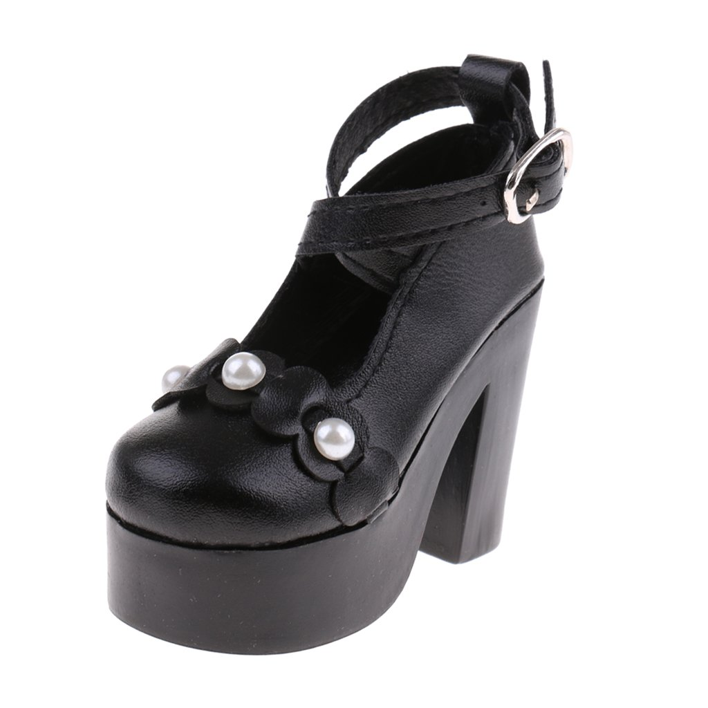 MonkeyJack 1/3 BJD Strap Buckle Shoes High Heels for SD YOSD Dollfie LUTS AS DZ Doll Sandal Clothes Accessories Black
