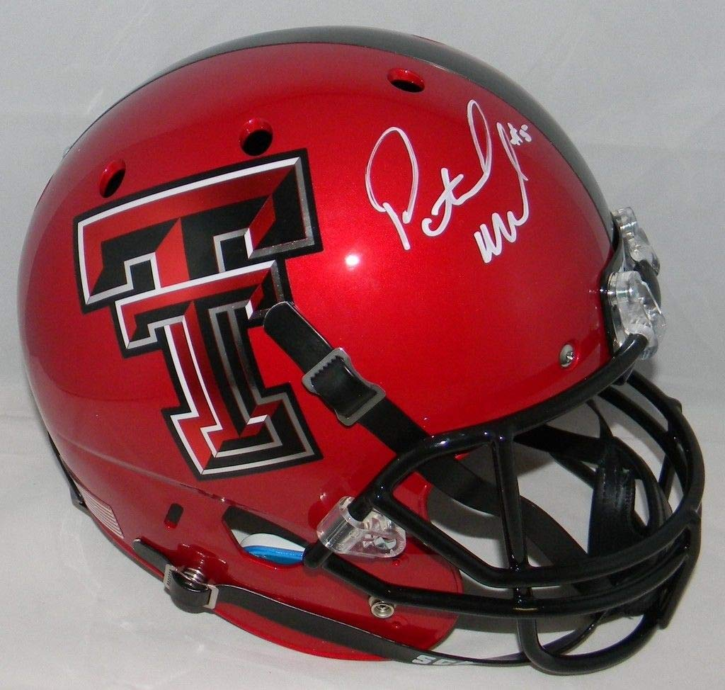 Patrick Mahomes Autographed Texas Tech Red Raiders Full Size Red Helmet JSA COA