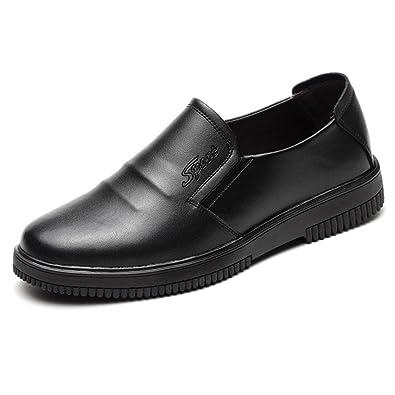Jiyaru Hombre Casual Sin Cordones Zapatos de Trabajo Clásico Oficina Cómodo Mocasines Negro (Asiático 39