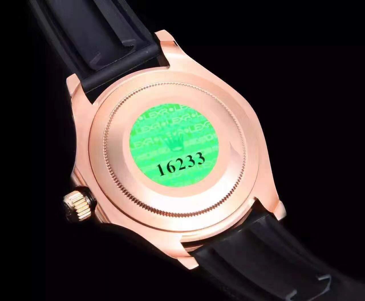 Svart gummi silver roséguld keramisk infattning män klocka safir vattentät automatiska mekaniska sportklockor 40mm Silver