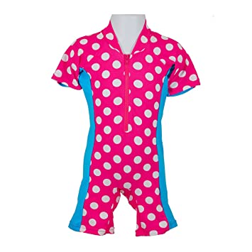 73a84e74f3cc2 Baby Girls UV 1 Piece Spotted Sun Safe Suit (3 - 6 months): Amazon.co.uk:  Baby
