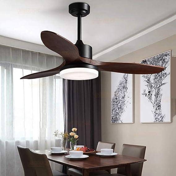 Dp-Light Ventiladores de Techo con lámpara con Control Remoto, 8 ...