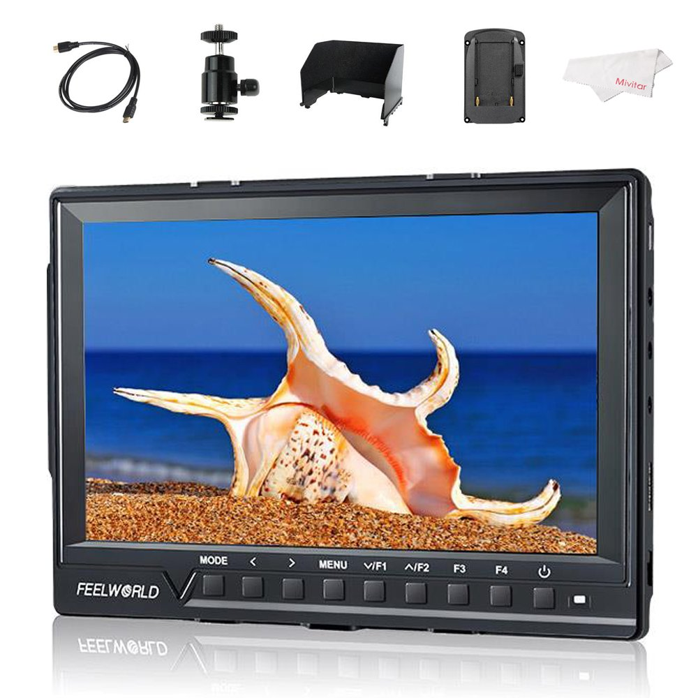 Feelworld FW760 7'' IPS Ultra-Thin 1920x1200 HD On-Camera Video Monitor HDMI with Histogram, Zebra for DSLR Cameras by FEELWORLD