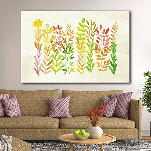 Watercolor Style Colorful Leaves
