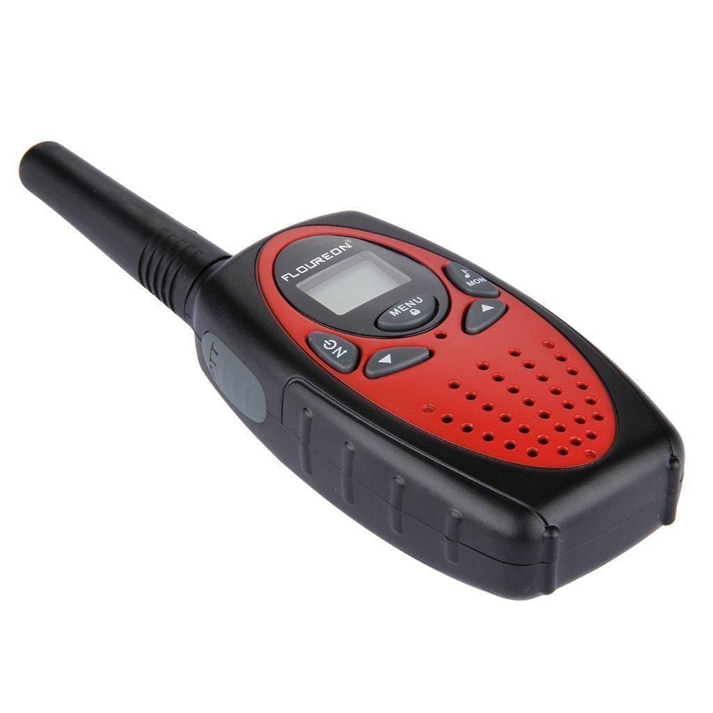 Kids Walkie Talkies FLOUREON Walkie Talkie for Kid 22 Channel Two Way Radios Long Range 3000M (MAX 5000M Open Field) UHF Handheld Outdoor Walkie Talkies(Red) by floureon (Image #4)