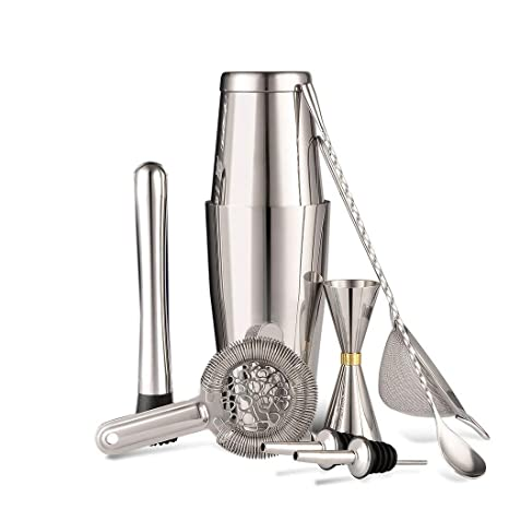 Compra Yuan coctelera Cocktail Boston Bartending Tool Set of ...