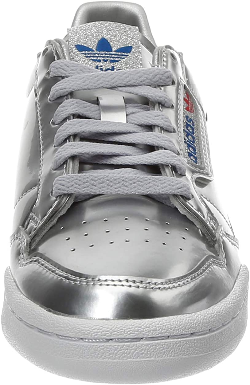 adidas Continental 80, Chaussure de Gymnastique Homme Silver Metallic Silver Metallic Crystal White