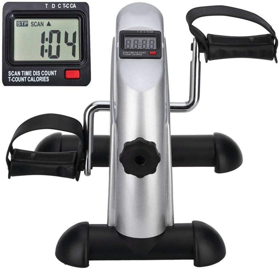 himaly Mini Exercise Bike Portable Home Pedal Exerciser Gym Fitness Leg Arm Cardio Training Adjustable Resistance LCD Display Women Men