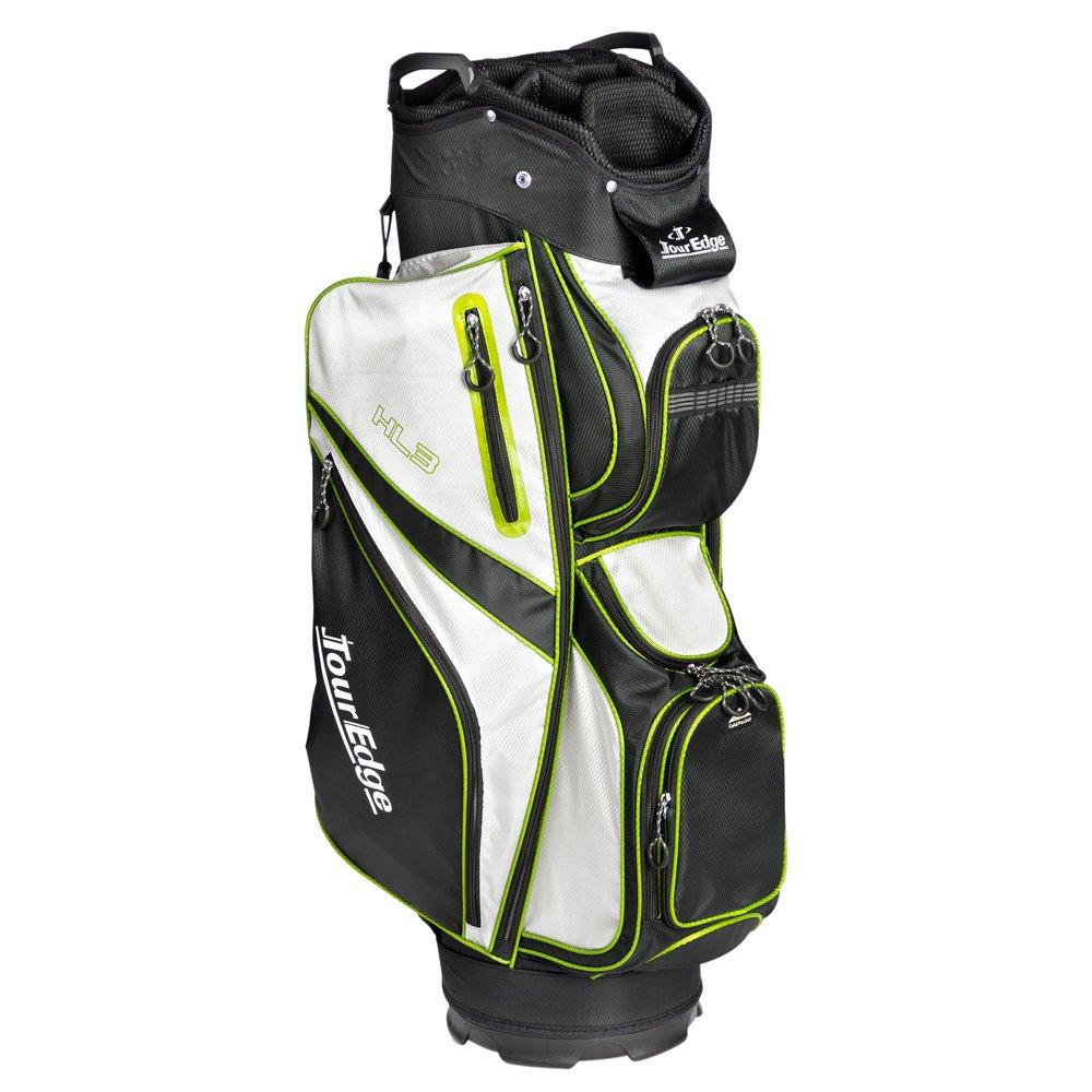 ツアーエッジhl3ゴルフカートバッグ B0797SX3YG Black/Silver/Lime Black/Silver/Lime