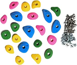 Escape Climbing Kids' 21-Hold Rock Climbing Starter Pack Great for Home or Gym Rock Climbing Walls, Bright Colors