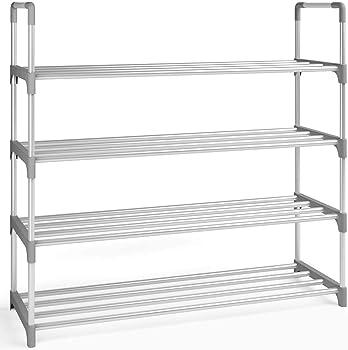Home Intuition 4-Tier 20 Pairs Shoe Rack Storage Organizer