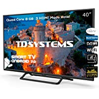 Televisor Led 40 Pulgadas Full HD Smart, TD Systems K40DLX9FS. Resolución 1920 x 1080, 3X HDMI, VGA, 2X USB, Smart TV.