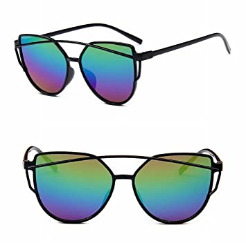 mode ultra - helle sonnenbrille Retro ultra - helle Gläser helle farbe Quecksilber plastiksonnenbrille helles schwarzes blaues Objektiv 1kpql