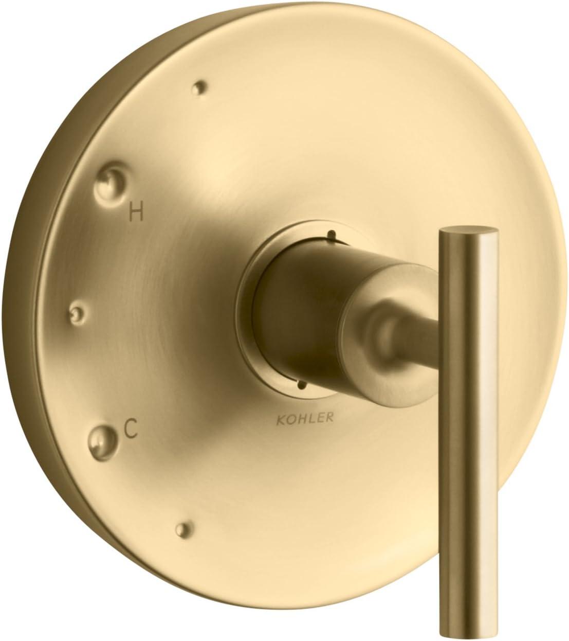 Kohler Ts14423 4 Bgd Purist Rite Temp Valve Trim With Lever Handle Vibrant Moderne Brushed Gold Amazon Com