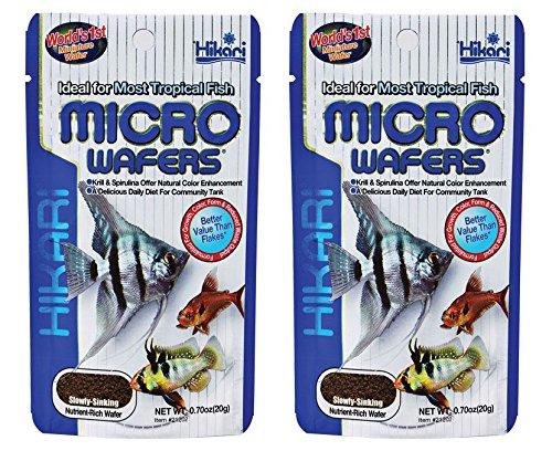 Wafers Hikari Micro (Micro Wafers Fish Food [Set of 2] Size: 1.58 Ounces)