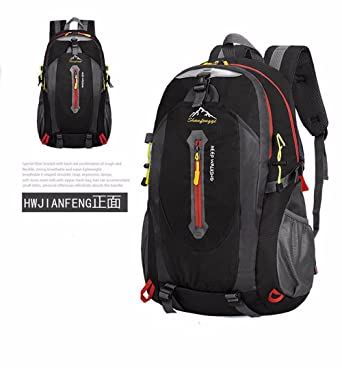 Nylon Hiking Backpack,40L Waterproof Daypack for Men and Women Oxford Mountaineering Backpacks Outdoor Camping