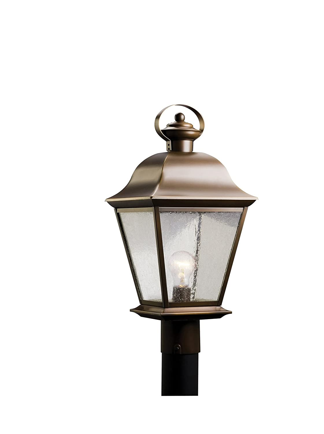 Com Kichler 9909oz Mount Vernon Outdoor Post 1 Light Olde Bronze Garden