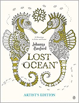 Amazon Lost Ocean Artists Edition An Inky Adventure And Coloring Book For Adults 24 Drawings To Color Frame 9780143130758 Johanna Basford