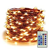 ER CHEN Dimmable LED String Lights Plug In, 99ft 300 LED Waterproof Warm White Fairy Lights with Remote, Indoor/Outdoor Copper Wire Christmas Decorative Lights for Bedroom, Patio, Garden, Yard, Party