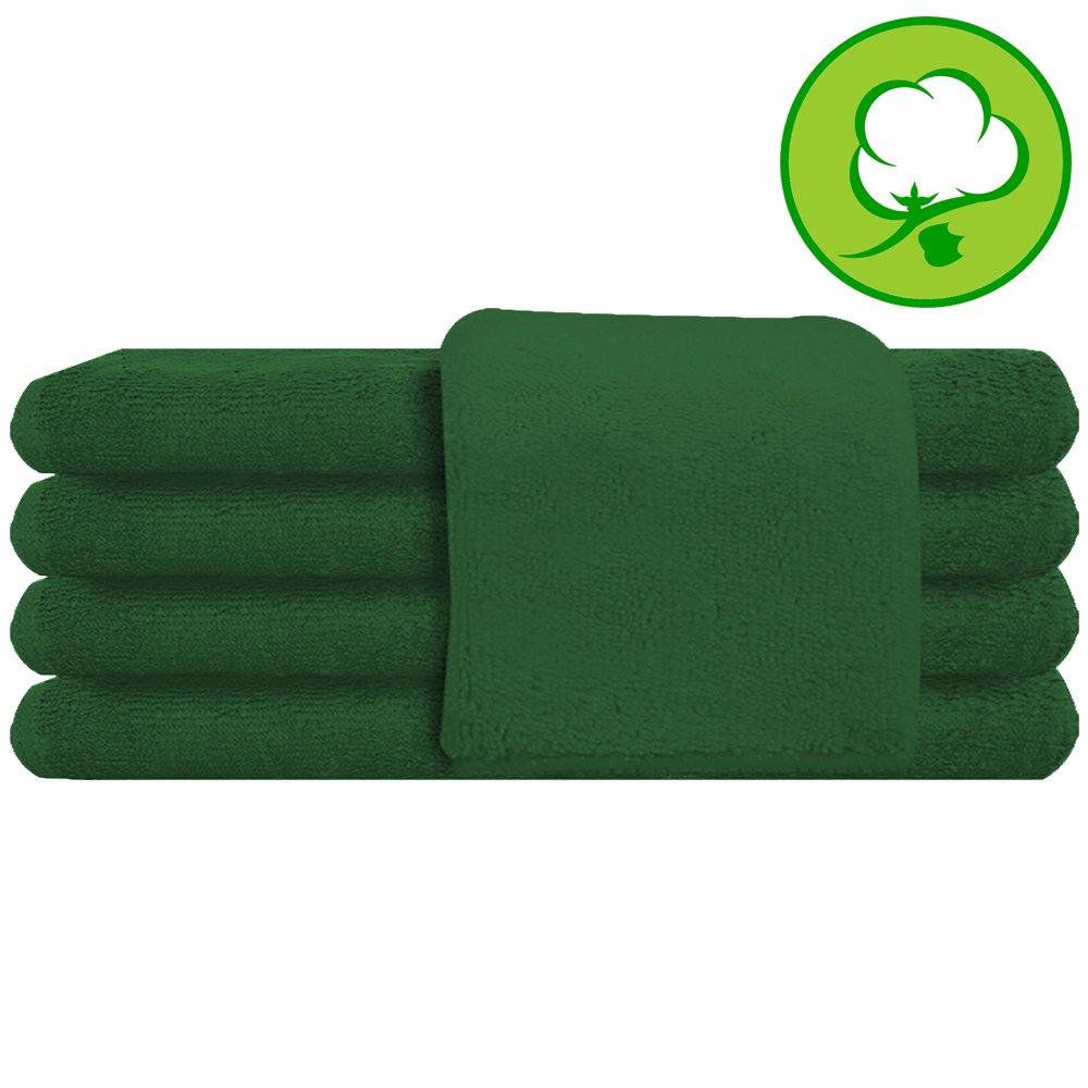 Green Salon Towel 100% Cotton 16''x27''. Hand Towel - 6 DOZEN (72 pack