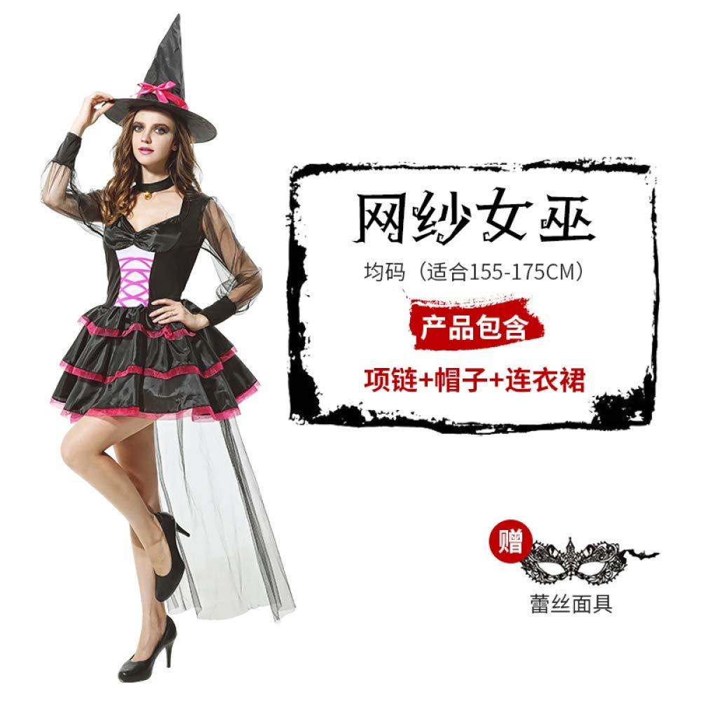 MYing Halloween-Kostüm Maskerade Cosplay Erwachsenen Hexe Anzug Anzug Hexe Königin Kostüm Geist Braut Queen-13