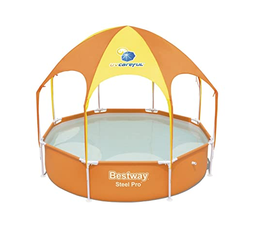 Piscina Desmontable Tubular Infantil con Parasol Bestway Splash-In-Shade 244x51 cm