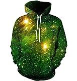 APHT Unisex Galaxy Hoodie 3D Printed Pullover Casual Sweatshirt Jumper with Pocket Fleece Hoody Couple wear Funny Hoodie