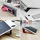 Ringke Laptop Stand [Black] Universal Smart Folding Multi Angle Adjustable Portable Slim Adhesive Stand Holder for Laptop, Notebook, Tablet, iPad, More Devices