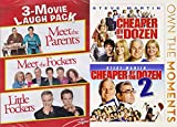 DVD : Meet The Family Cheaper By The Dozen 2-Pack + Meet the Parents / Fockers / Little Fockers Laugh Movie DVD Bundle 5 Film Favorites