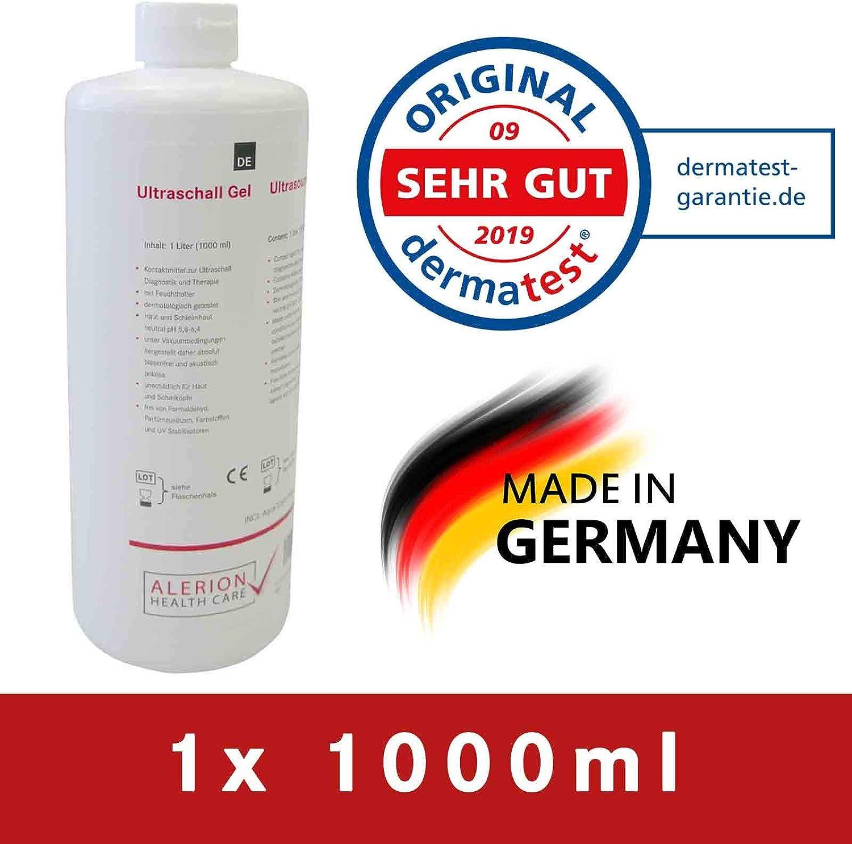 Gel de ultrasonido Gel de ultrasonido Sono Gel de contacto Gel de deslizamiento médico Gel de contacto Gel de guía (1x 1000 ml)