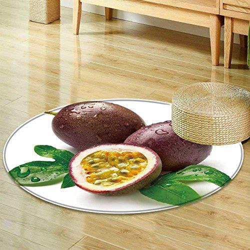 Round Fruit Passion - Small Round Rug CarpetPassion Fruit Door mat Indoors Bathroom Mats Non Slip-Round 55