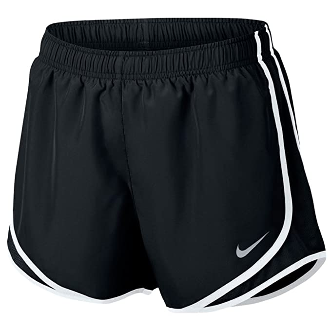 7883a21a2d2a Nike Womens Dri-Fit Tempo Running Shorts Black White Wolf Grey 831558-