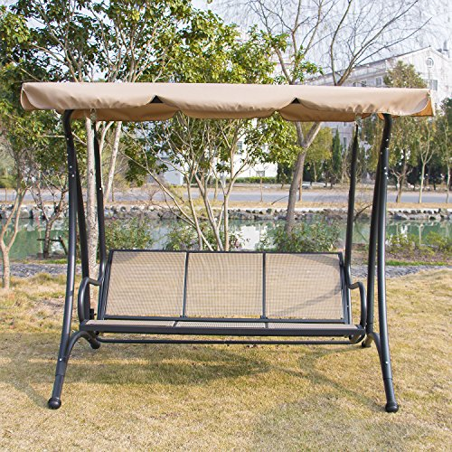 Bestmart-INC-Outdoor-3-person-Canopy-Swing-Glider- & Bestmart INC Outdoor 3 person Canopy Swing Glider Hammock Chair ...