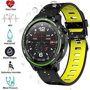 Zwbfu LOKMAT MK28 Reloj Inteligente Pantalla de 1.14 ...